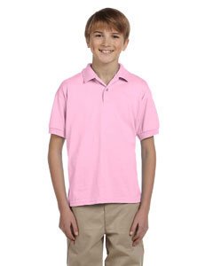 Light Pink DryBlend® Youth 5.6 oz., 50/50 Jersey Polo