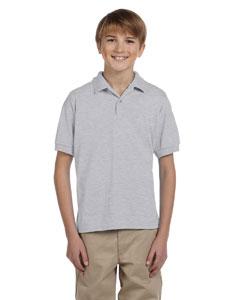 Ash Grey DryBlend™ Youth 5.6 oz., 50/50 Jersey Polo