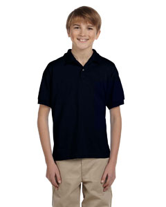Black DryBlend® Youth 5.6 oz., 50/50 Jersey Polo