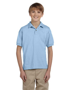 Light Blue DryBlend® Youth 5.6 oz., 50/50 Jersey Polo