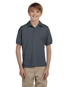 Dark Heather DryBlend® Youth 5.6 oz., 50/50 Jersey Polo