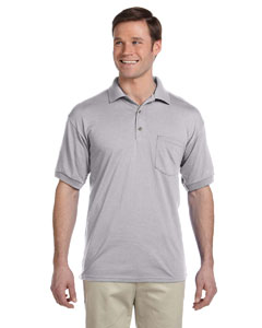 Sport Grey DryBlend™ 6 oz., 50/50 Jersey Polo with Pocket