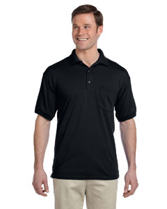 Black DryBlend™ 6 oz., 50/50 Jersey Polo with Pocket