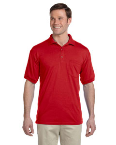 Red DryBlend™ 6 oz., 50/50 Jersey Polo with Pocket