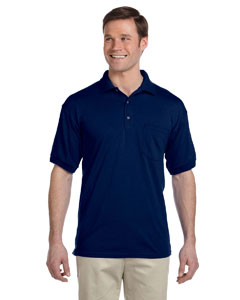 Navy DryBlend™ 6 oz., 50/50 Jersey Polo with Pocket