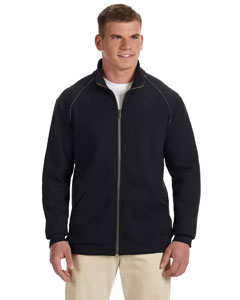 Black Premium Cotton™ 9 oz. Ringspun Fleece Full-Zip Jacket