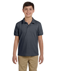 Charcoal DryBlend™ Youth 6.5 oz. Piqué Sport Shirt