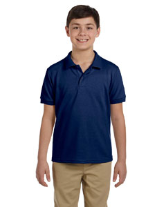 Navy DryBlend™ Youth 6.5 oz. Piqué Sport Shirt