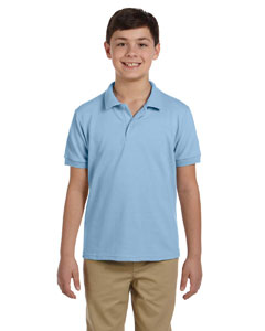 Light Blue DryBlend™ Youth 6.5 oz. Piqué Sport Shirt