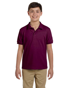 Maroon DryBlend™ Youth 6.5 oz. Piqué Sport Shirt