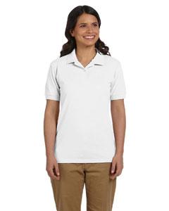 White Women's 6.5 oz. DryBlend™ Piqué Sport Shirt
