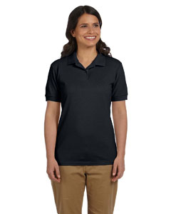 Black Women's 6.5 oz. DryBlend™ Piqué Sport Shirt