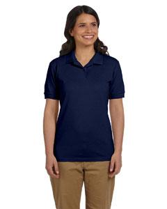 Navy Women's 6.5 oz. DryBlend™ Piqué Sport Shirt