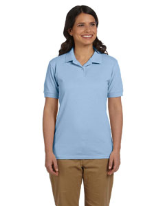 Light Blue Women's 6.5 oz. DryBlend™ Piqué Sport Shirt