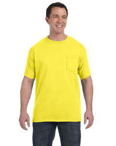Yellow 6.1 oz. Tagless® ComfortSoft® Pocket T-Shirt