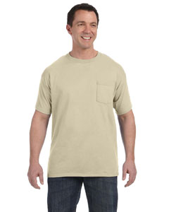 Sand 6.1 oz. Tagless® ComfortSoft® Pocket T-Shirt