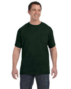 Deep Forest 6.1 oz. Tagless® ComfortSoft® Pocket T-Shirt