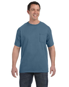 Denim Blue 6.1 oz. Tagless® ComfortSoft® Pocket T-Shirt