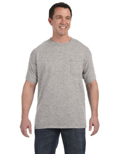 Light Steel 6.1 oz. Tagless® ComfortSoft® Pocket T-Shirt
