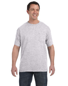 Ash 6.1 oz. Tagless® ComfortSoft® Pocket T-Shirt