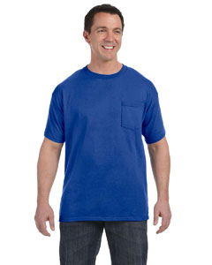 Deep Royal 6.1 oz. Tagless® ComfortSoft® Pocket T-Shirt