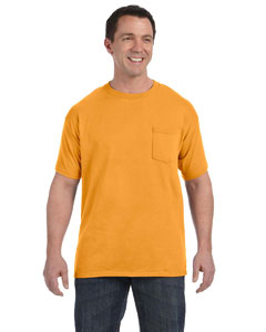 Gold 6.1 oz. Tagless® ComfortSoft® Pocket T-Shirt