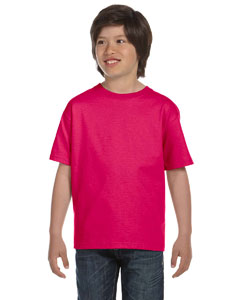 Cyber Pink Youth 6 oz., 100% Cotton Lofteez HD® T-Shirt