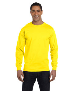 Yellow 6 oz., 100% Cotton Lofteez HD® Long-Sleeve T-Shirt