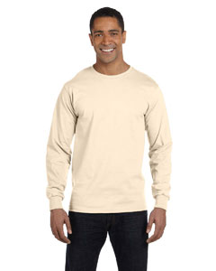 Natural 6 oz., 100% Cotton Lofteez HD® Long-Sleeve T-Shirt