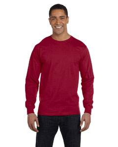 Maroon 6 oz., 100% Cotton Lofteez HD® Long-Sleeve T-Shirt