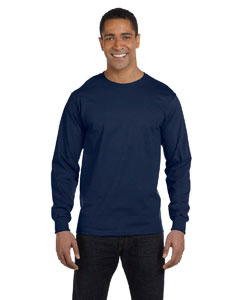 J Navy 6 oz., 100% Cotton Lofteez HD® Long-Sleeve T-Shirt