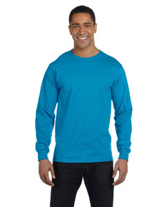 Pacific Blue 6 oz., 100% Cotton Lofteez HD® Long-Sleeve T-Shirt