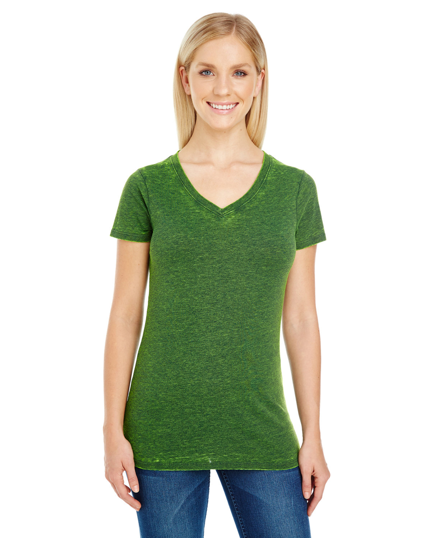 threadfast apparel 215b ladies 39 cross dye short sleeve v