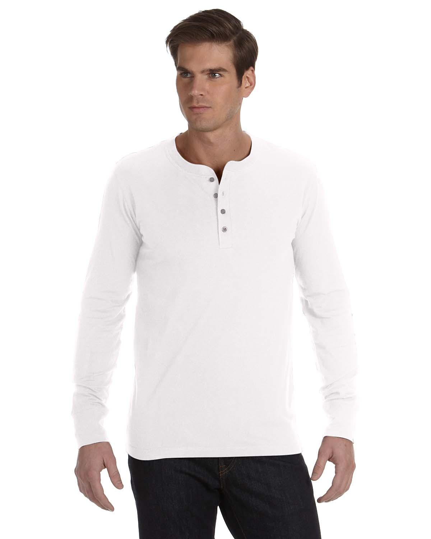 Bella canvas 3150 men 39 s long sleeve henley shirtmax for Mens xl tall henley shirts