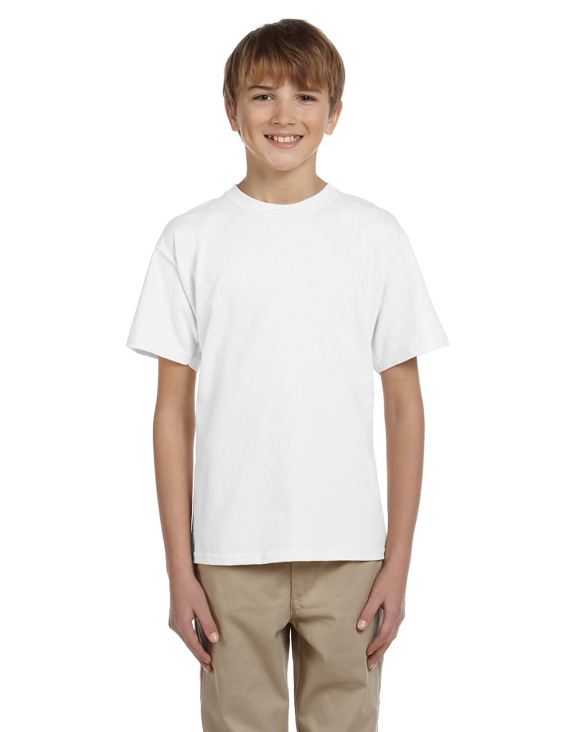 Fruit of the loom 3931b kids 100 cotton t shirt shirtmax for High end white t shirts