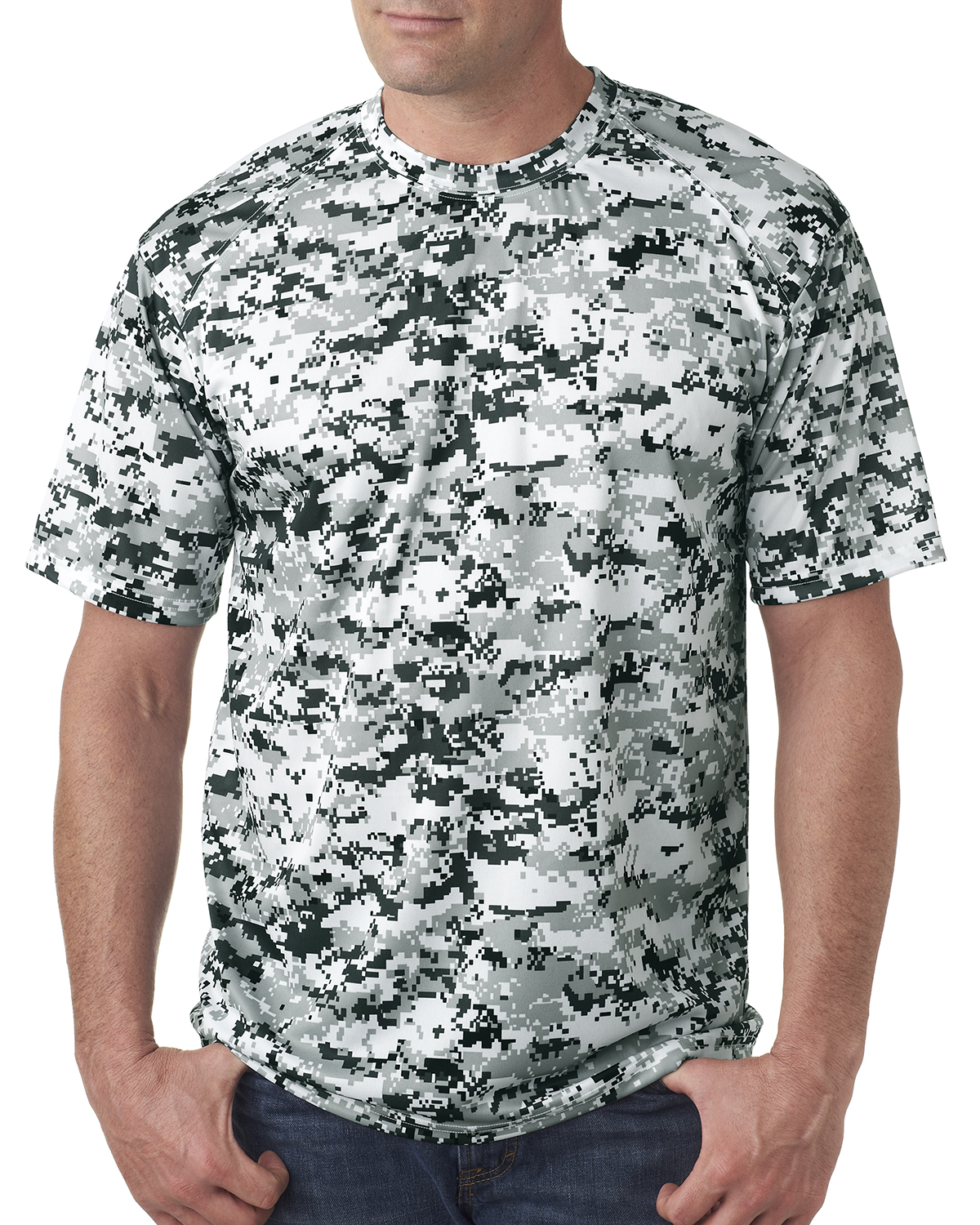 Badger sport 4180 adult digital camo tee shirtmax for Gildan camouflage t shirts