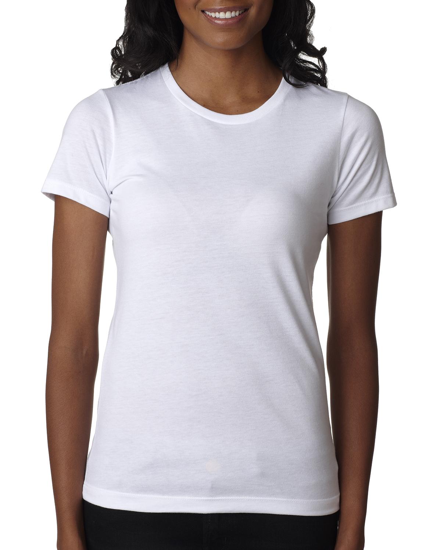 Next level 6610 ladies 39 cvc crew tee shirtmax for Model white t shirt