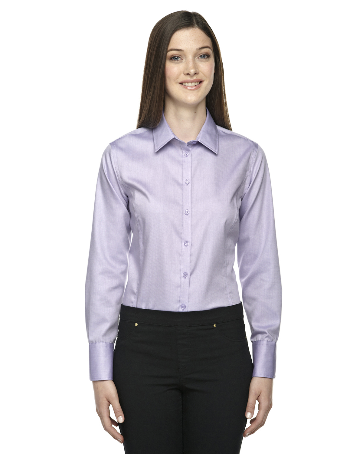 North End Sport Blue 78673 Ladies Twill Shirt Shirtmax
