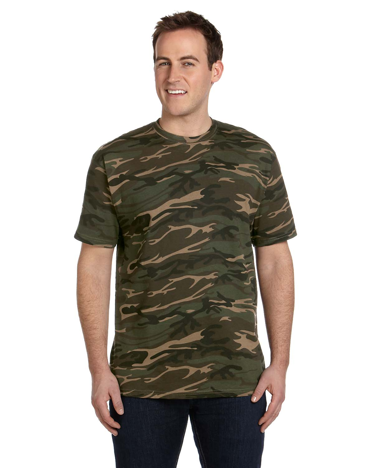 Anvil 939 camouflage heavyweight cotton t shirt shirtmax for Gildan camouflage t shirts