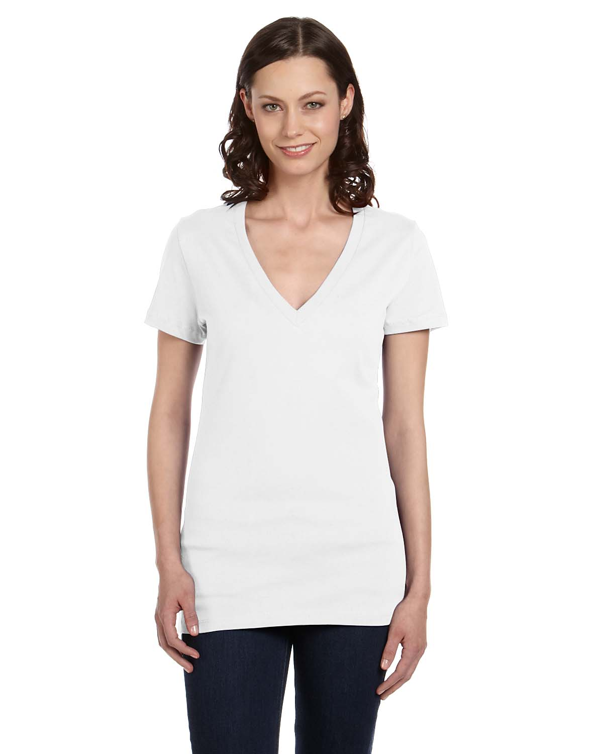 bella canvas b6035 women 39 s deep v neck t shirt shirtmax