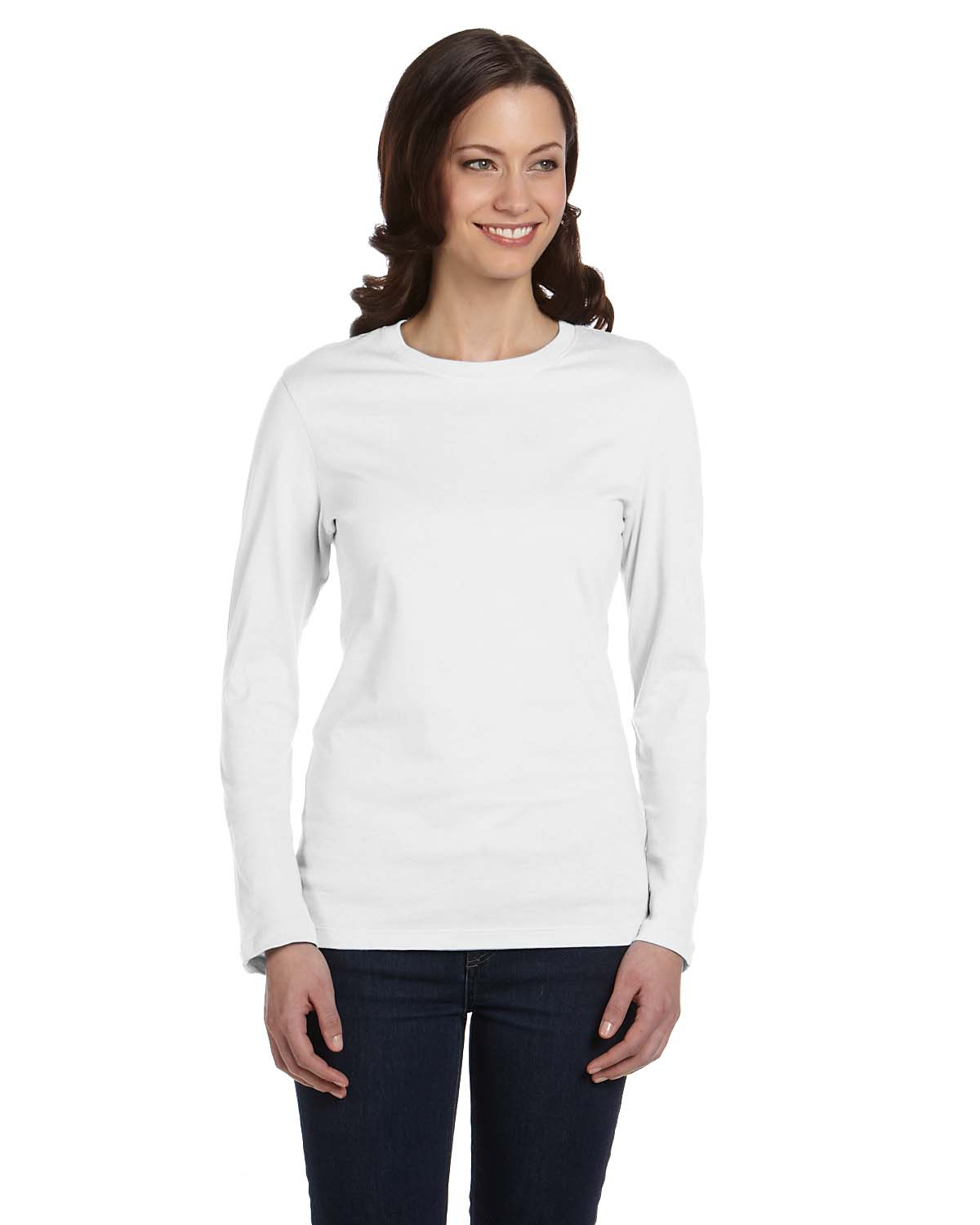 Womens Long Sleeve T Shirts. Stay warm and comfortable without compromising the desire to look laid back and casual by creating a fashion ensemble that includes a long-sleeve t-shirt or top. Available in a variety of colors and styles, women's long-sleeve t-shirts are a comfortable and stylish way to add a layer of warmth and protection against colder temperatures.