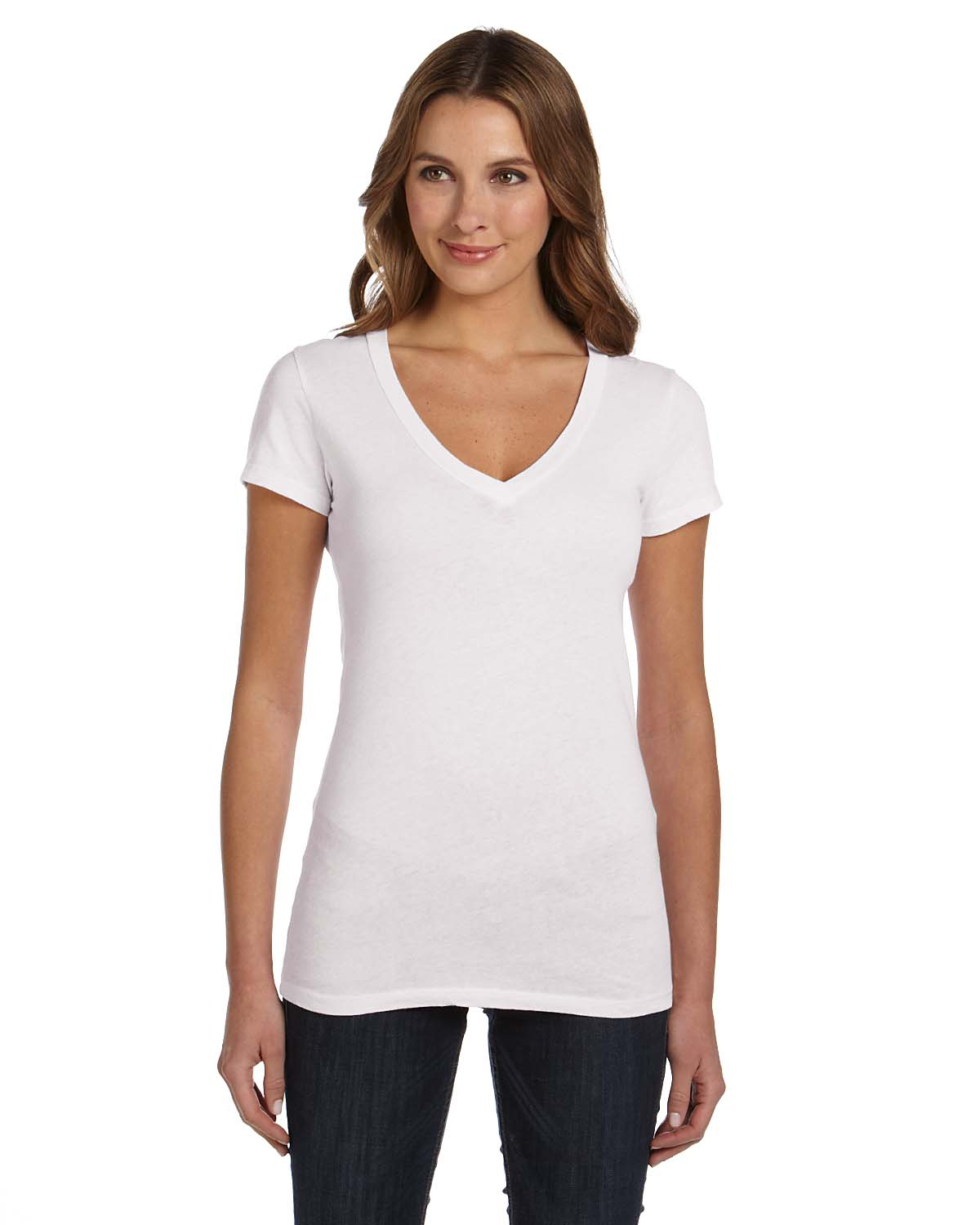 bella canvas b8417 women 39 s deep v neck t shirt shirtmax