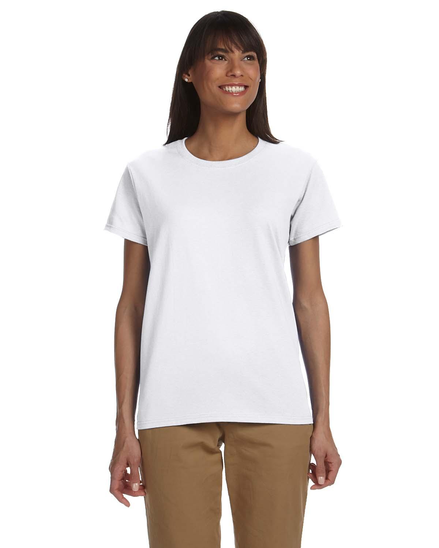 Gildan g200l women 39 s 6 oz ultra cotton t shirt shirtmax for Model white t shirt