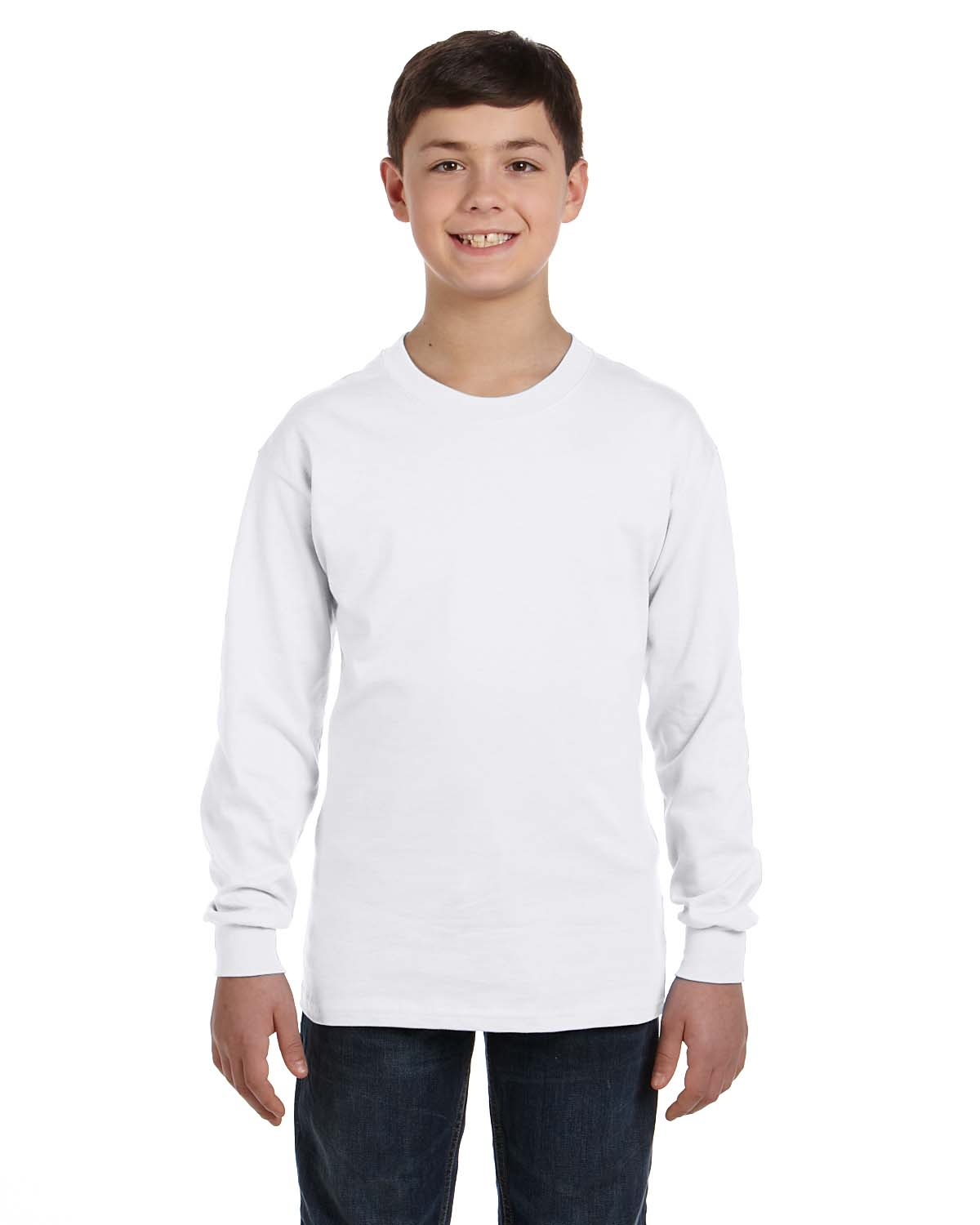 Gildan g540b youth 5 3 oz long sleeve t shirt shirtmax for What is a long sleeve t shirt