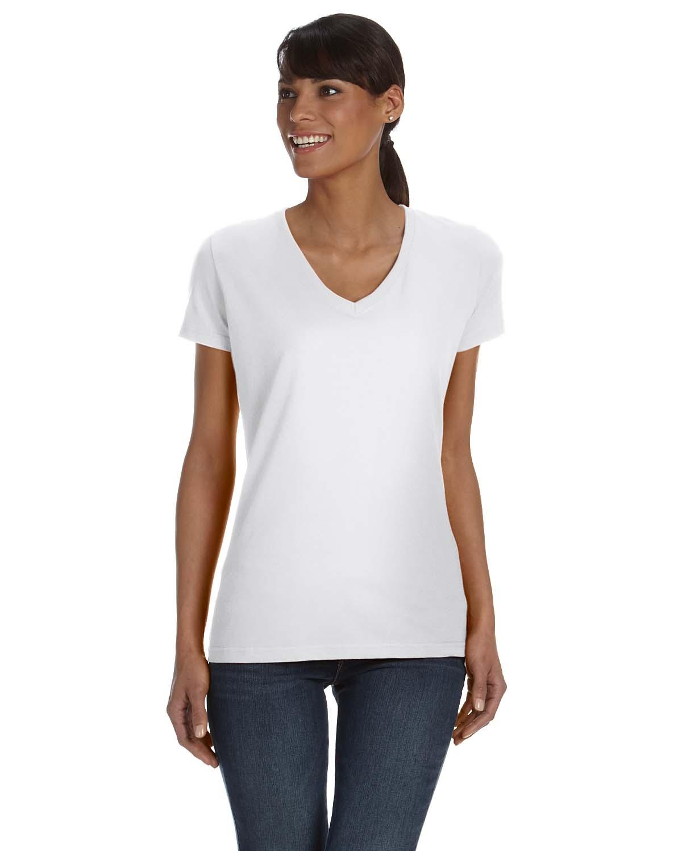 fruit of the loom l39vr womens v neck t shirt shirtmax. Black Bedroom Furniture Sets. Home Design Ideas