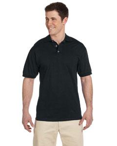 Black 6.1 oz. Heavyweight Cotton Jersey Polo