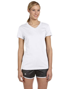 White Women's Dri-Power® V-Neck T-Shirt