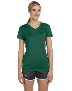 Dark Green Women's Dri-Power® V-Neck T-Shirt