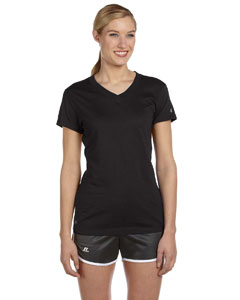 Black Women's Dri-Power® V-Neck T-Shirt