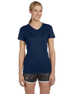 J Navy Women's Dri-Power® V-Neck T-Shirt